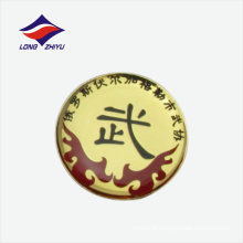Wushu associação customização logo lapel badge butterfly clasp