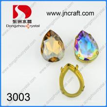 Cristal de cor Ab fantasia pedras com configurações de garra