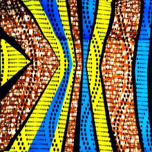 Простая полиэфирная ткань из африканского воска, тканая с многоцветным узором