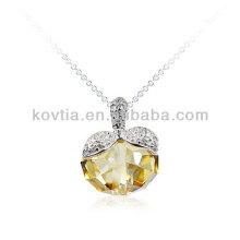 Cute apple shape crystal pendant for girls