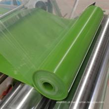 Folha de silicone brilhante de folha de borracha de silicone de cor verde