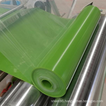 Green Color Silicone Rubber Sheet Glossy Silicone Sheet