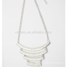 Custom Alloy Chain Pendant Necklace Collar Silver Jewelry