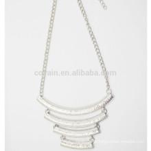 Colar de pingente de corrente personalizado colar colar de prata