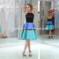 Короткий передний B046 последние мода Женская длинная спина вечернее платье
