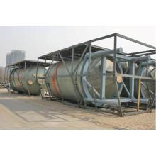 Tanque químico vertical o horizontal de fibra de vidrio