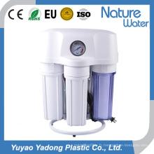 50g RO purificateur d'eau avec manomètre et étagère en acier
