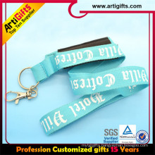 Promotional Polyester guitar feather couple cell phone straps