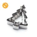 O aço inoxidável de aço inoxidável do fabricante dos bolinhos do presente do cortador molda o molde do bolo