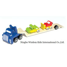 Wooden Trailer Vehicles Play Set Wooden Toys for Children and Kids