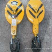 ganchos de seguridad de grúa para bloque de gancho de accesorios de grúa