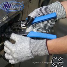 NMSAFETY anti coupe usage flexible doigt gants de travail de revêtement pour la cueillette de châtaigne chinoise