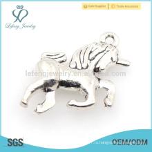 Дешевые персонализированные на заказ серебряные украшения очарование лошади