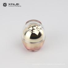 Tarro de acrílico cosmético vacío con forma de huevo de 30 g