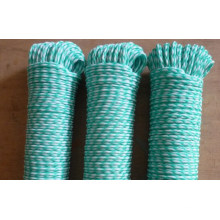 Colored hollow double braided polyester rope