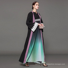 Owner Designer Marke OEM Label Hersteller Frauen Islamische Kleidung customfront offene Abaya muslimischen Strickjacke Abaya Kimono