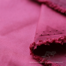 Resistente al agua y al aire libre ropa deportiva al aire libre chaqueta tejida tela 100% nailon (NX029)