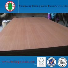 16mm Natural Sapele Veneer MDF Board for Furniture Cabinet