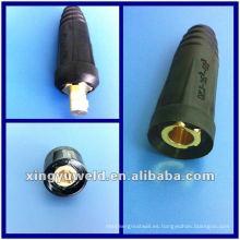 Conector de cable de soldadura Mig y conector de cable