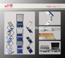 JIS7-7 economic exhibition conference trade show display usage a4*six customised acrylic magazine display stand