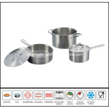 Big Impact Bottom 5PCS Stainless Steel Cookware Set