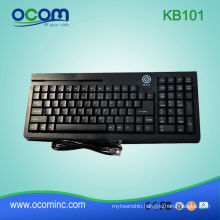 101 Keys With Optional Magnetic Card Reader POS Keyboard