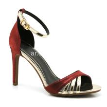 450602c12 احمر و احمر كعب حذاء للنساء