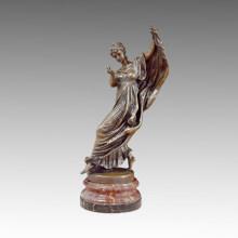 Tänzer-Statue halten Apfel-Bronze-Skulptur, JL Gerome TPE-490