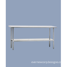 Stainless steel work table with BS