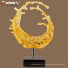 Usine de vente directe shuiliuli polyresine claire statue de table colorée pour l'endroit public