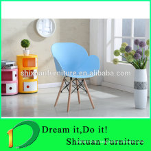 wood legs plastic seat living room modern chair