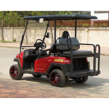 Carrinho de golfe elétrico de metal vermelho com assento dobrável