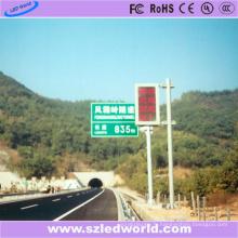 Panneau rouge de panneau d'écran d'affichage à LED de la couleur P10 sur la voie élevée