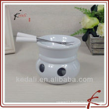ceramic mini fondue set