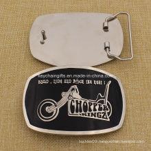 2016 Custom Metal Silver Belt Buckle with Soft Enamel