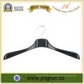 2016 Hot Sale Garment Hanger Black Plastic Clothes Hanger