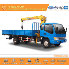 JAC dump truck mounted straight crane 5tons