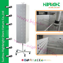 floor rotating pegboard display stand
