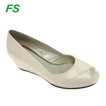 elegant italy stylish wedge heel shoes woman