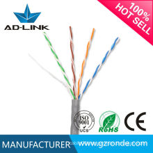 High speed copper 305m/box 0.5mm 4 pair 24awg cat.5 utp cable