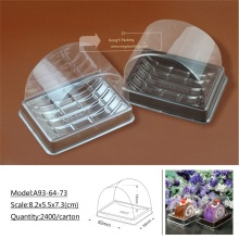 plastic PVC sushi cake cookies packing box