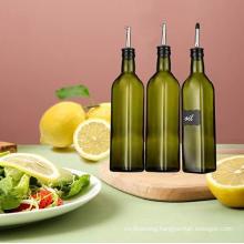 Hot-Selling Square Glass Olive Oil Bottle, Dark Green Camellia Oil Glass Bottle