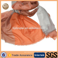 Écharpe tissée en cachemire mince de couleur contrastée