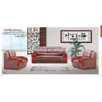 Conjunto de sofá de design de móveis de madeira