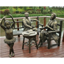 Bronze Family Sculpture For Sale