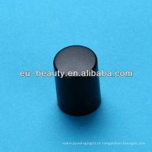 Tampa de perfume preta fosca para garrafa de vidro