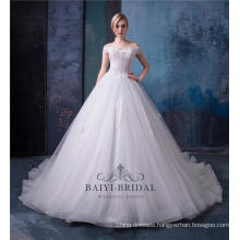 Alibaba wholesale off shoulder wedding dress bridal gown HA565