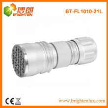 Factory Supply Custom Made 21 led Cheap Torch, 21 led Alumium Cheap Torch With 3aaa Battery