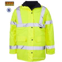 Высокая Vis защищать водонепроницаемый Оксфорд куртка