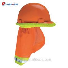 Sombra reflexiva do Sun do pescoço do protetor do chapéu duro da visibilidade alta do depósito de segurança para todo o chapéu duro e tampão da segurança